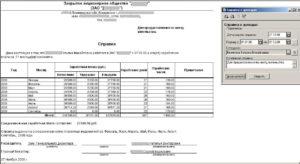 Справка о доходах