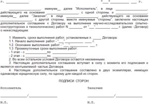 Соглашение о внесении изменений (дополнений) в договор возмездного оказания услуг
