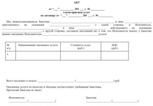 Акт сдачи-приемки компьютерной программы по договору на передачу компьютерной программы и техническое обслуживание