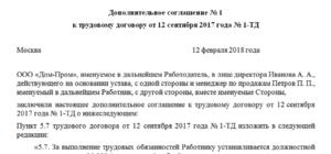 Дополнительное соглашение к трудовому договору об изменении сроков выплаты заработной платы (Образец заполнения)
