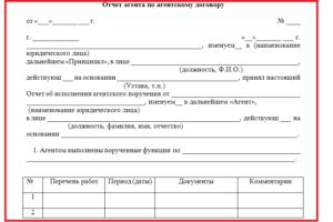 Акт выполненных работ (отчет агента)