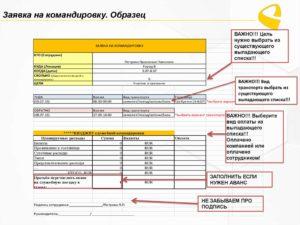 Расчет аванса на командировочные расходы при служебной командировке за границу (Образец заполнения)