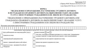 Заявление работника о заключении контракта (Образец заполнения)