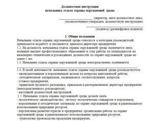 Должностная инструкция начальнику службы охраны