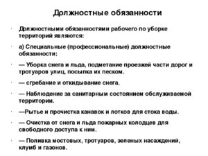 Должностная инструкция мастеру участка по уборке городских дорог