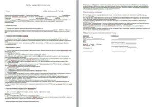 Договор на выполнение работ предпринимателем