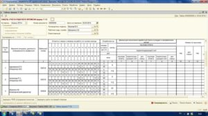 Табель использования рабочего времени при суммированном учете (Образец заполнения)