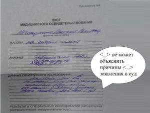 Лист изучения при приписке призывника