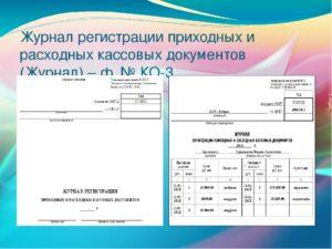 Сводная ведомость приходных/расходных документов