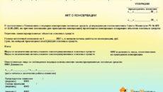 Перечень основных средств, подлежащих консервации (продлению сроков консервации (расконсервации))
