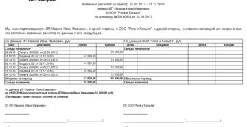 Справка сверки из ИМНС о внесенных продавцом средствах на транзитный счет за полученные бланки счетов-справок