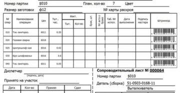 Сопроводительный лист к входящим документам персонифицированного учета