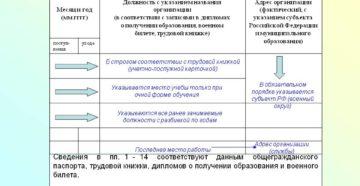 Сведения о выполняемой работе с начала трудовой деятельности