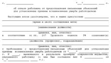 Акт о выявлении материального ущерба (Образец заполнения)